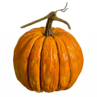 8.5 Inch Weighted Faux Pumpkin Orange