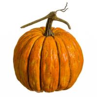 8.5 Inch Weighted Faux Pumpkin Orange