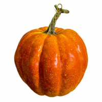 6.5 Inch Weighted Faux Pumpkin Orange