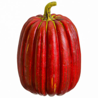 8.5 Inch Weighted Fake Pumpkin Red Green