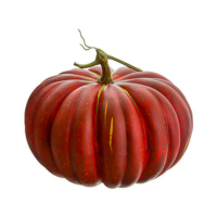 10 Inch Weighted Fake Pumpkin Red Green