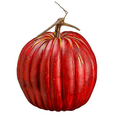 10.5 Inch Weighted Fake Pumpkin Red Green