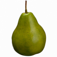 5 Inch Weighted Faux Pear Two Tone Green