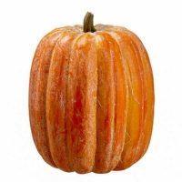 18 Inch Weighted Artificial Pumpkin Orange Green
