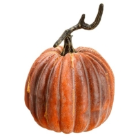 8 Inch Weighted Fake Pumpkin Brick