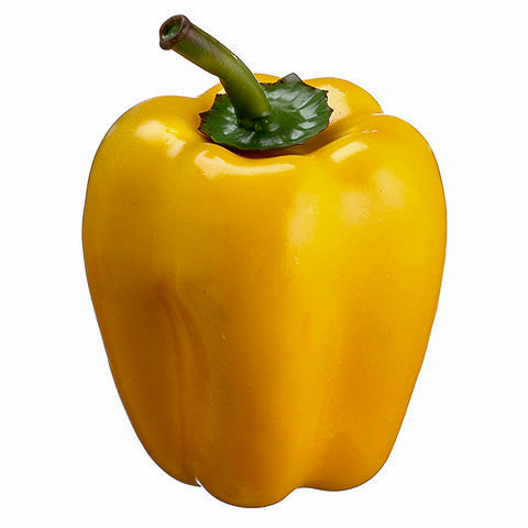 4.7 Inch Weighted Faux Bell Pepper Yellow