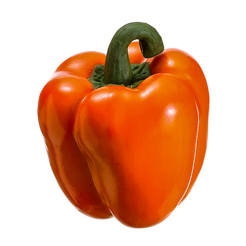 3.5 Inch Weighted Artificial Bell Pepper Orange