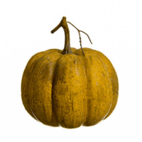6.5 Inch Weighted Faux Pumpkin Toffee Orange