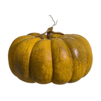 10 Inch Weighted Faux Pumpkin Toffee Orange