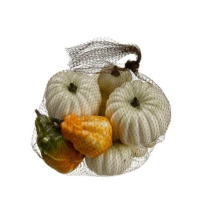 Assorted Artificial Pumpkin Gourd in Bag Cream (8 Per/Bag)