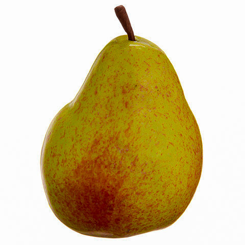 3.5 Inch Weighted Fake  Pear Yellow Gold