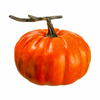 8 Inch Weighted Artificial Pumpkin Orange