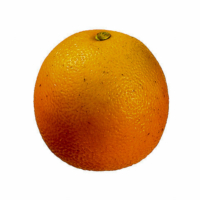2.5 Inch Weighted Artificial Tangerine Orange