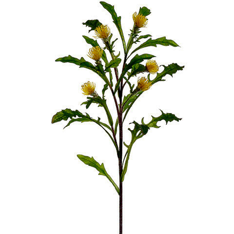 28 Inch Faux Artichoke Spray Yellow