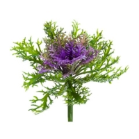 9 Inch Faux Cabbage Spray Green Lavender