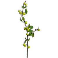 40 Inch Artificial Crab Apple Spray Green
