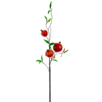 36 Inch Artificial Pomegranate Spray Red