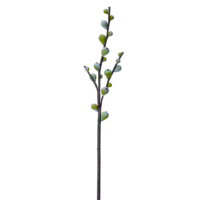 53 Inch Artificial Fig Branch Green Gray