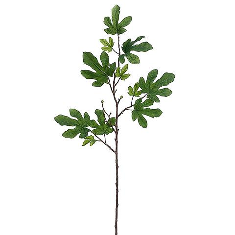 41 Inch Fake Fig Leaf Spray Green