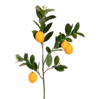 32 Inch Faux Lemon Branch Yellow