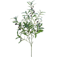 40 Inch Artificial Olive Branch Green Burgundy