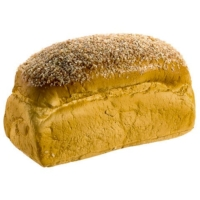 4 Inch H x 7 Inch L Sesame Seed Fake Bread Loaf Light Brown