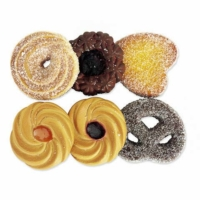 2.25 Inch Fake Cookie Assortment (6 Per/Bag)