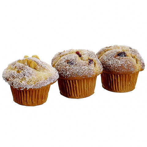 3 Inch Mixed Nuts Berry Artificial Muffin (3 Per/Bag)