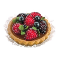 3 Inch Raspberry Blueberry Fake Tart