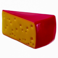 1.5 Inch H x 3.5 Inch W Fake Cheese Wedge