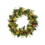 30 Inch Apple Magnolia Leaf Pine Cone Artificial Wreath Red Green