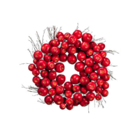 24 Inch Artificial Apple Wreath Red