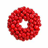 24 Inch Faux Apple Wreath Red
