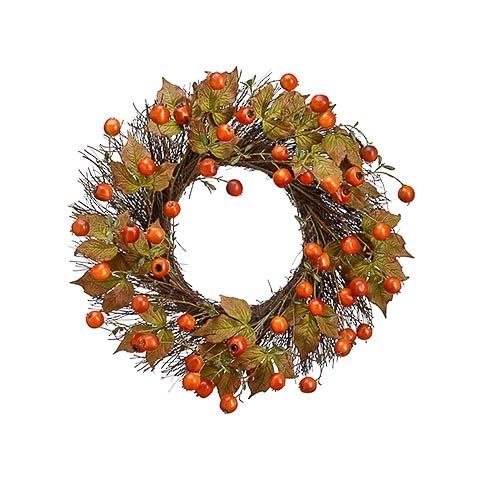 24 Inch Rosehip Wreath Orange