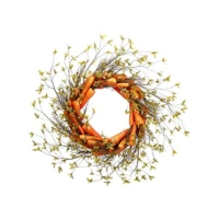 30 Inch Artificial Carrot Wreath Orange