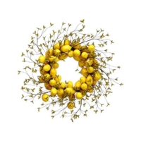 32 Inch Lemon Wreath Yellow