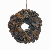 12 Inch Mushroom Wreath Brown
