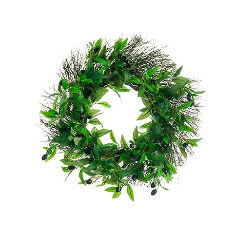 20 Inch Olive Wreath Purple Green