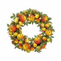 24 Inch Apple Pear Wreath Red Green