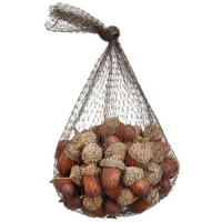 5.5 Inch Artificial Acorn Assortment in Bag Brown