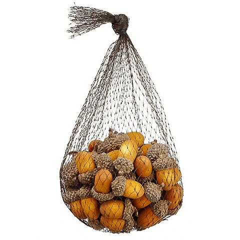 5.5 Inch Fake Acorn Assortment in Bag Orange