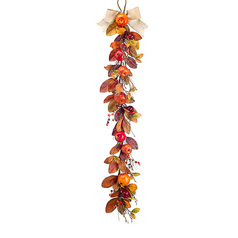 5 Foot Mixed Pomegranate Apple Garland Fall