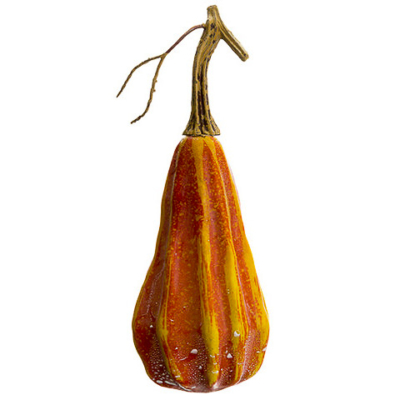 8 Inch Fake Gourd Orange