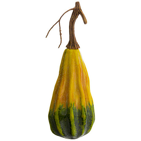 8 Inch Fake Gourd Yellow Green