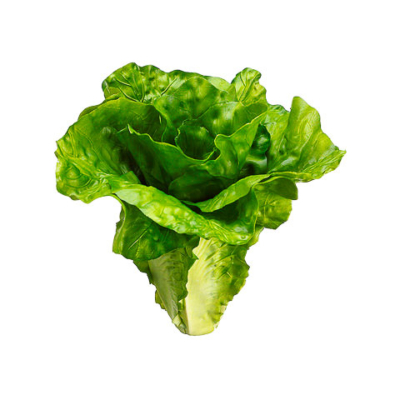 6 Inch Artificial Lettuce Green