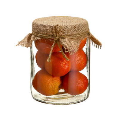 Artificial Orange in 5.75 Inch Glass Jar