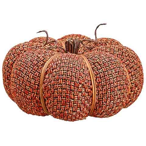 4 Inch Faux Pumpkin Orange