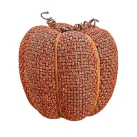 9 Inch Faux Pumpkin Orange