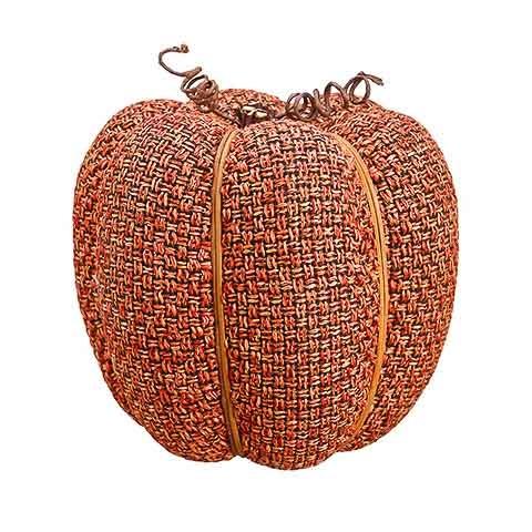 9 Inch Faux Pumpkin Orange