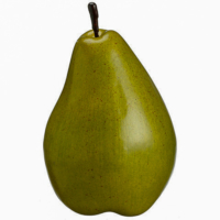7.5 Inch Faux Pear Green